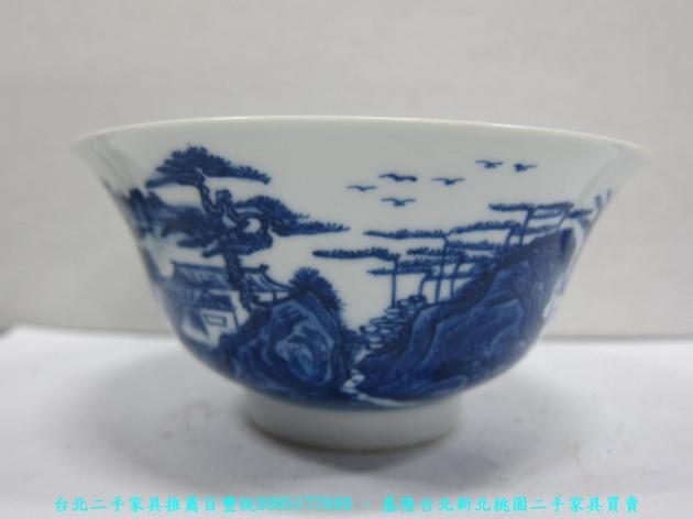 大清年製青花瓷碗 老件瓷器 擺飾品 藝術品收藏品 1