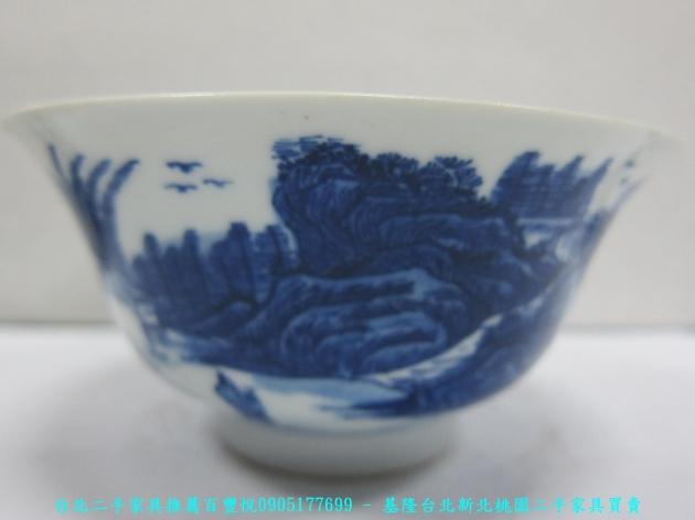 大清年製青花瓷碗 老件瓷器 擺飾品 藝術品收藏品 2
