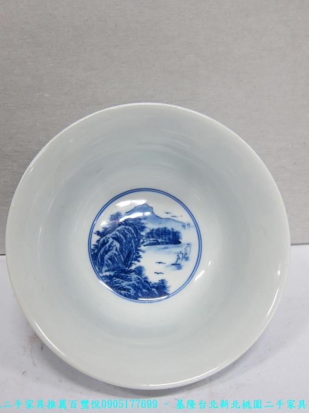 大清年製青花瓷碗 老件瓷器 擺飾品 藝術品收藏品 3