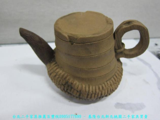 手工窯燒造型茶壺 擺飾品藝術品收藏品 1