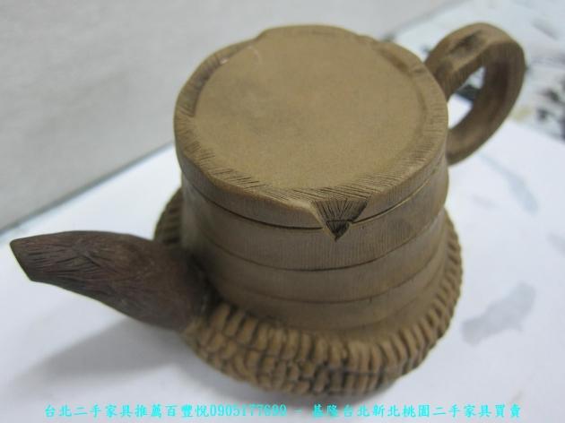 手工窯燒造型茶壺 擺飾品藝術品收藏品 2