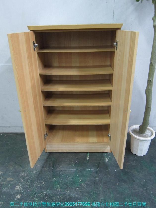 二手山毛櫸61公分鞋櫃 中古鞋架 鞋櫥 矮櫃 邊櫃 玄關櫃 置物櫃 收納櫃 儲物櫃 3