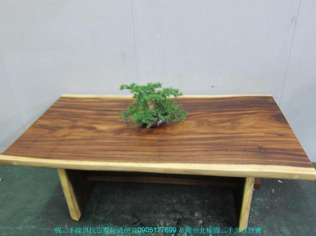 限量新品雨豆木182公分全實木餐桌 中古休閒桌 泡茶桌 吃飯桌 咖啡桌 接待桌 3
