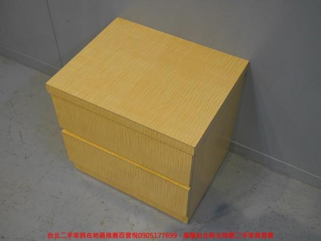二手白橡色50公分兩抽床邊櫃 置物收納櫃 儲物櫃 抽屜櫃 矮櫃房間櫃邊櫃 2