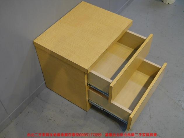 二手白橡色50公分兩抽床邊櫃 置物收納櫃 儲物櫃 抽屜櫃 矮櫃房間櫃邊櫃 4