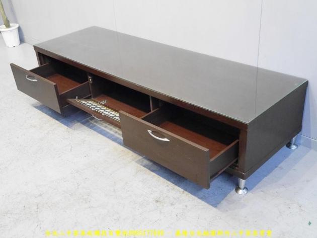 二手胡桃色6尺兩抽玻璃電視櫃 客廳TV櫃 矮櫃長櫃邊櫃 置物收納櫃 儲物櫃 4