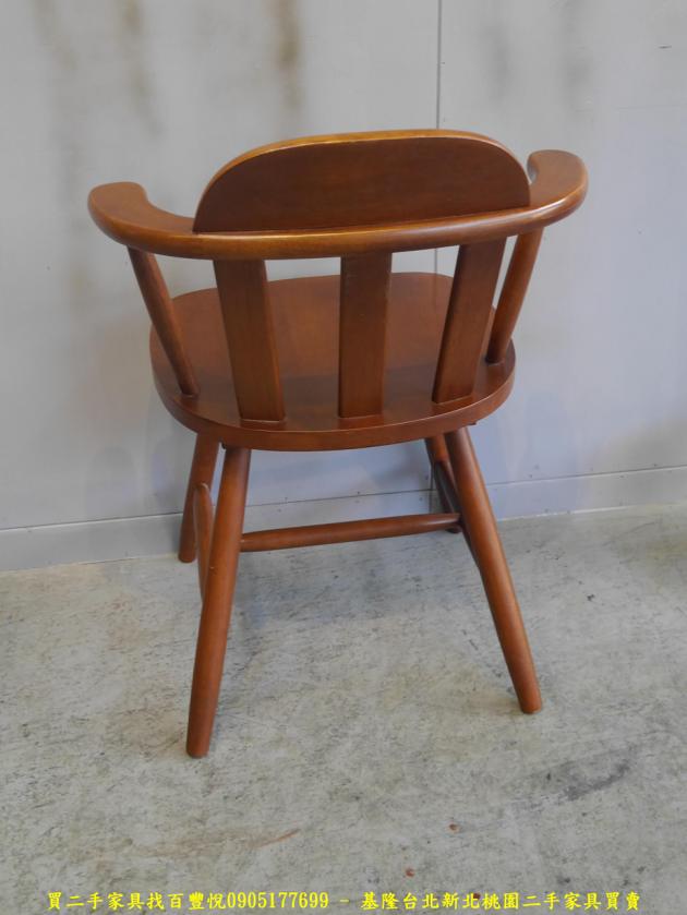 二手柚木色實木休閒餐椅 吃飯椅咖啡椅等候椅洽談椅 4