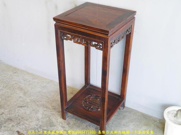 新品出清雞翅木實木40公分方形花架 置物架 擺飾架 電話架 花架 玄關架 2