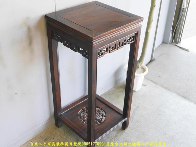 新品出清雞翅木實木40公分方形花架 置物架 擺飾架 電話架 花架 玄關架 3