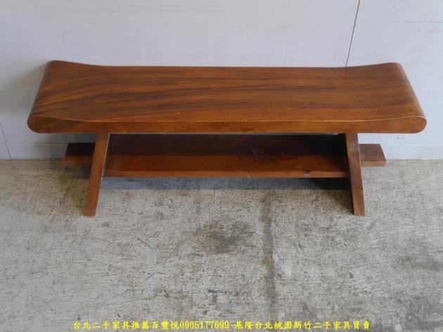 二手全實木4尺長凳 矮凳穿鞋椅休閒椅等候椅 1