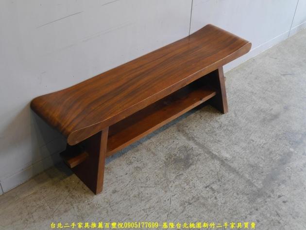 二手全實木4尺長凳 矮凳穿鞋椅休閒椅等候椅 3