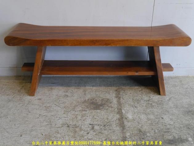 二手全實木4尺長凳 矮凳穿鞋椅休閒椅等候椅 4