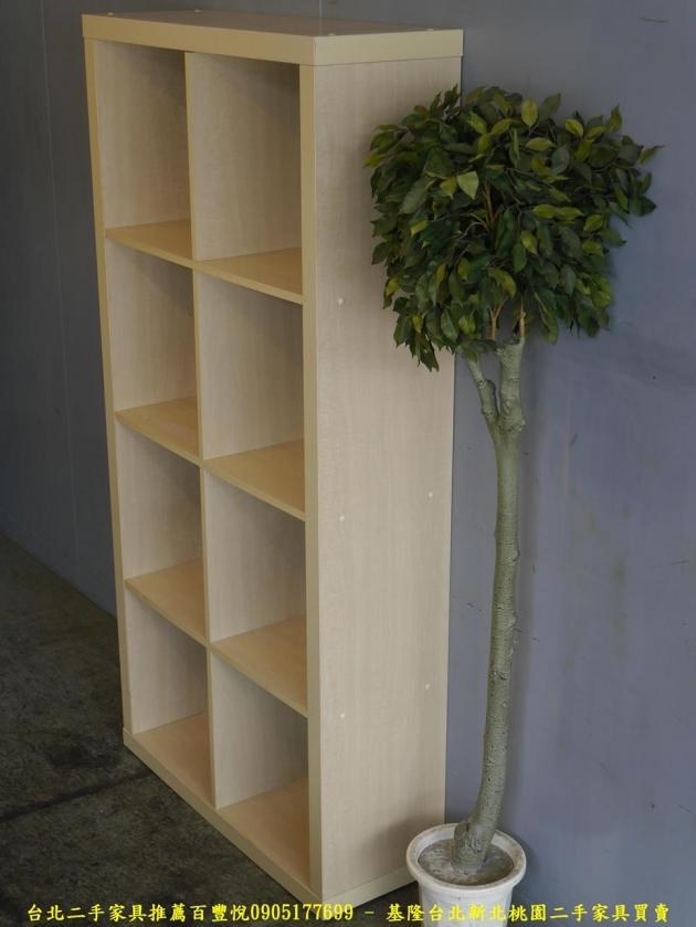 二手米色81公分八格開放式書櫃 書櫥櫥櫃 置物收納儲物櫃 邊櫃公仔櫃擺飾櫃 3