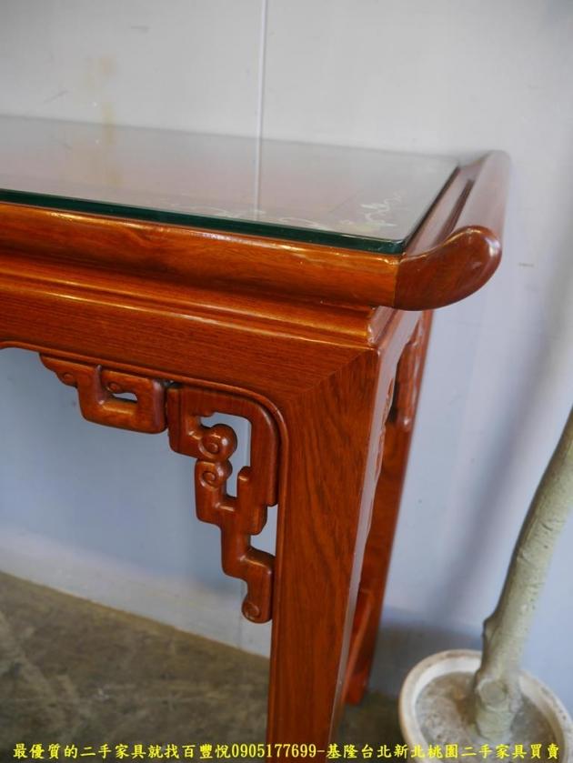 二手花梨木鑲貝全實木仿古四尺玄關桌 擺飾桌置物桌邊桌 5