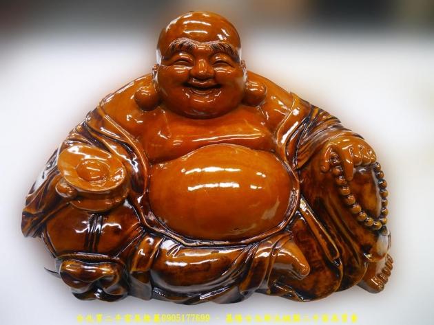 二手彌勒佛木雕藝術品 坐佛擺飾品裝飾品招財進寶慈悲為懷 1