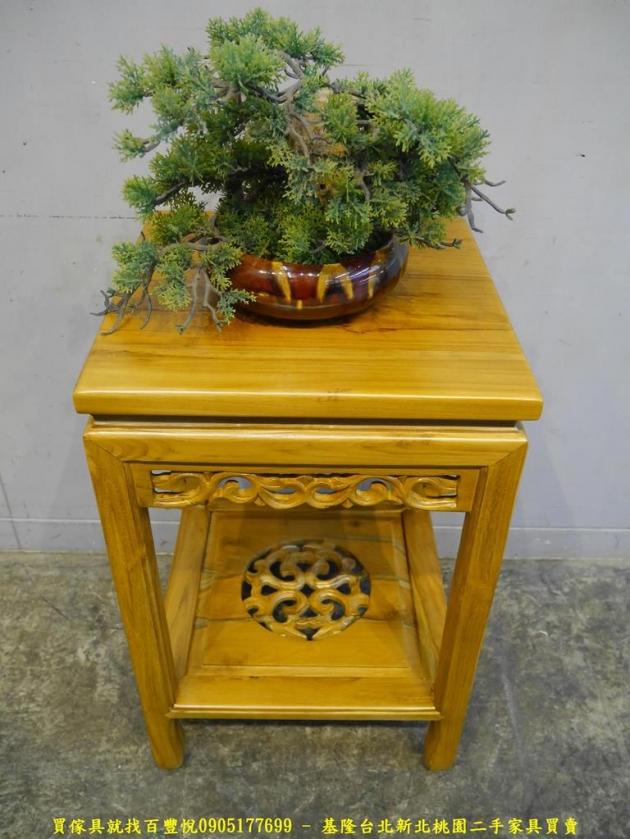 限量新品柚木全實木39公分置物擺飾架 花台花架收納架 1