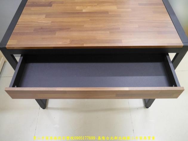二手工業風積層木91公分單抽書桌 電腦桌 置物桌 學生桌 寫字桌 工作桌 4