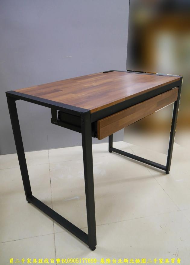 二手工業風積層木91公分單抽書桌 電腦桌 置物桌 學生桌 寫字桌 工作桌 5