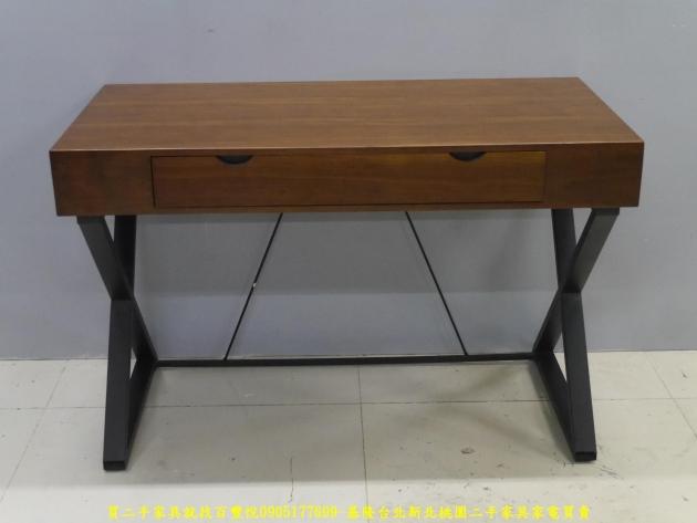 二手工業風120公分實木單抽書桌 主管桌 電腦桌 工作桌 邊桌 寫字桌 學生桌 1