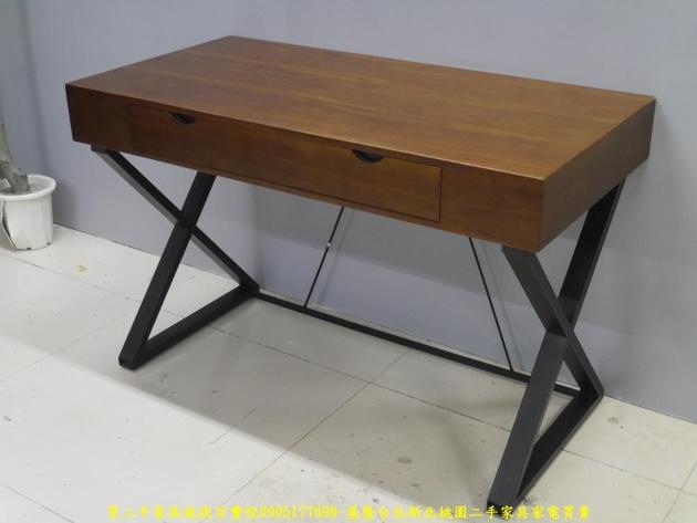 二手工業風120公分實木單抽書桌 主管桌 電腦桌 工作桌 邊桌 寫字桌 學生桌 2