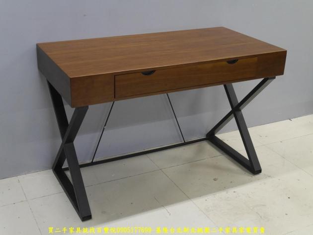 二手工業風120公分實木單抽書桌 主管桌 電腦桌 工作桌 邊桌 寫字桌 學生桌 3