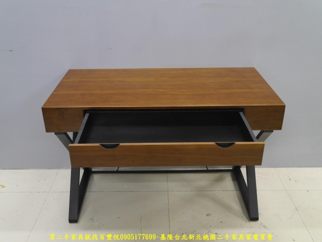二手工業風120公分實木單抽書桌 主管桌 電腦桌 工作桌 邊桌 寫字桌 學生桌 4