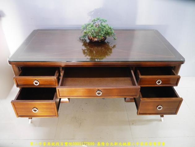 二手花梨木實木5尺主管桌 電腦桌 工作桌 書桌 置物桌 辦公桌 寫字桌 3