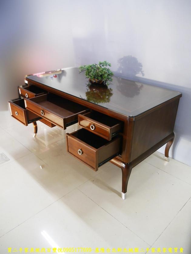 二手花梨木實木5尺主管桌 電腦桌 工作桌 書桌 置物桌 辦公桌 寫字桌 4