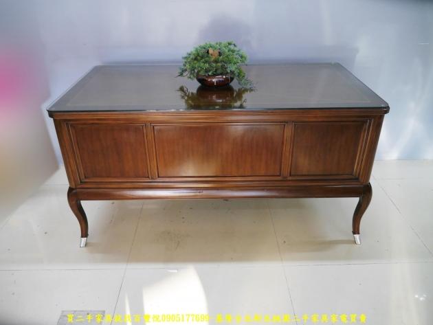 二手花梨木實木5尺主管桌 電腦桌 工作桌 書桌 置物桌 辦公桌 寫字桌 5
