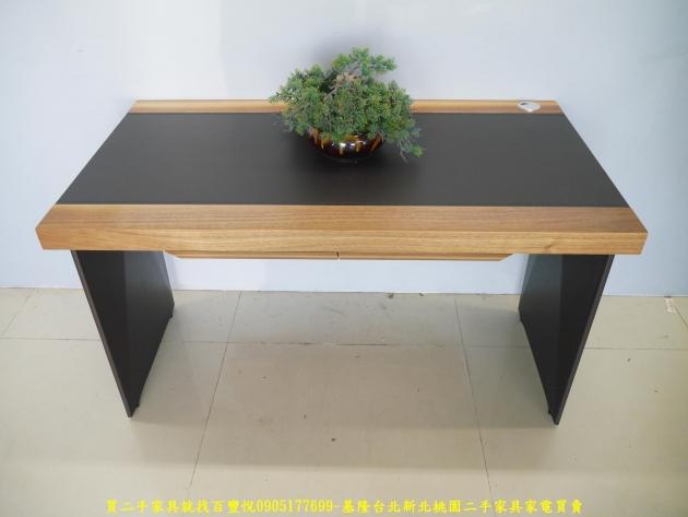 二手工業風125公分實木書桌 工作桌 辦公桌 電腦桌 寫字桌 學生桌 1