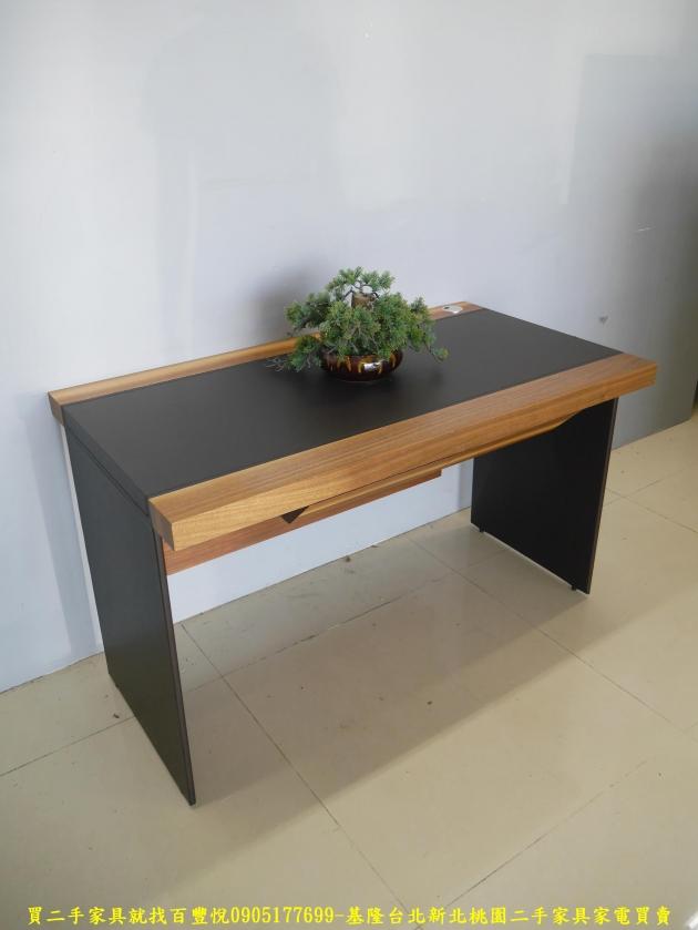 二手工業風125公分實木書桌 工作桌 辦公桌 電腦桌 寫字桌 學生桌 2
