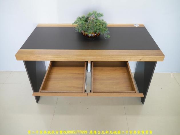 二手工業風125公分實木書桌 工作桌 辦公桌 電腦桌 寫字桌 學生桌 3