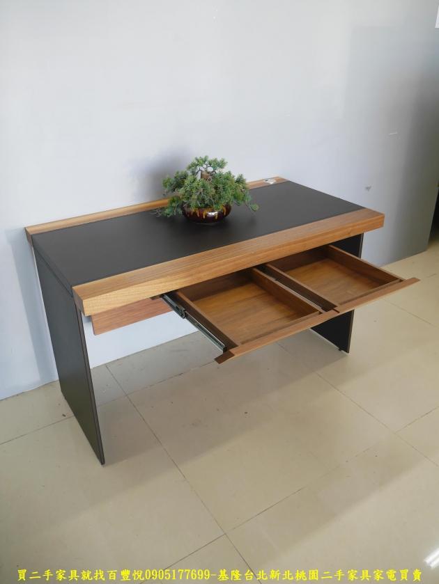 二手工業風125公分實木書桌 工作桌 辦公桌 電腦桌 寫字桌 學生桌 4