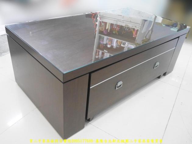 二手茶几二手客廳茶几胡桃色130公分雙抽茶几 置物桌 沙發桌 矮桌 邊桌 3
