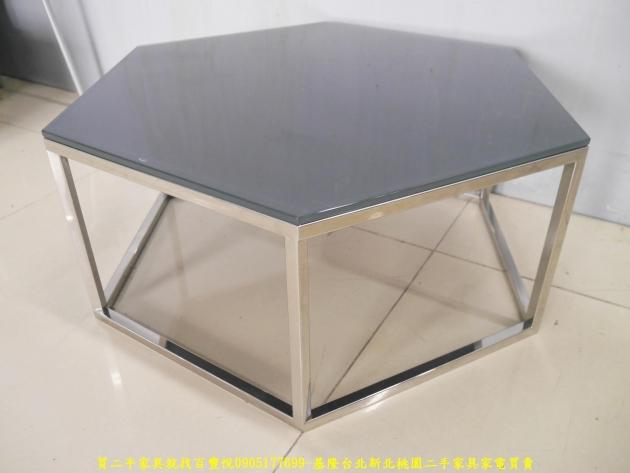 二手茶几二手客廳茶几北歐風六角形玻璃茶几 沙發桌 咖啡桌 會客桌 邊桌 2