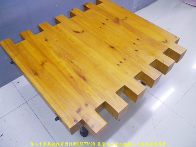 二手茶几二手客廳茶几工業風93公分造型茶几 實木桌 矮桌 邊桌 沙發桌 3