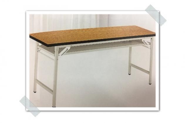 限量新品木紋色4尺會議折疊桌 辦公工作桌收納置物桌 會客桌 洽談桌 會議桌 1