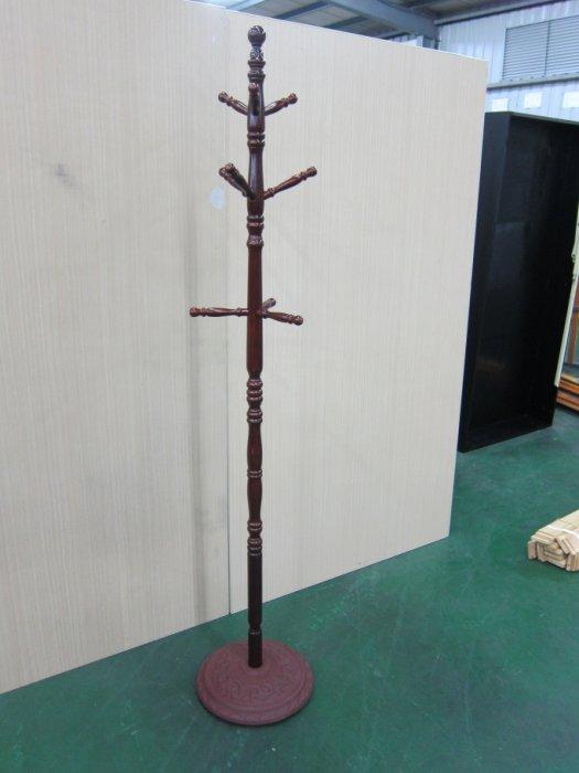 新品出清全實木紅木色吊衣架 吊衣桿衣帽架曬衣架收納架掛衣架 2