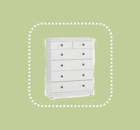 全新出清白色81公分五斗櫃 房間抽屜櫃 置物儲物櫃 1