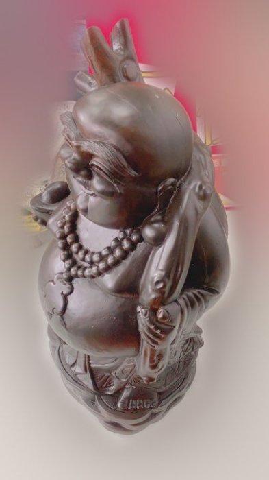 印尼黑檀彌勒佛木雕藝術品 擺飾品裝飾品招財進寶 3