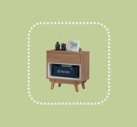 新品出清設計師款49公分柚木色床邊櫃 置物收納儲物櫃 1